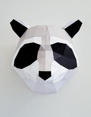 Trophée origami Raton laveur - Kit DIY papier