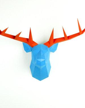 Trophée origami Cerf - Kit DIY