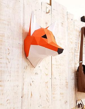 Trophée Origami Renard- Kit DIY