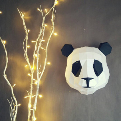 Trophée origami Panda - Kit DIY papier