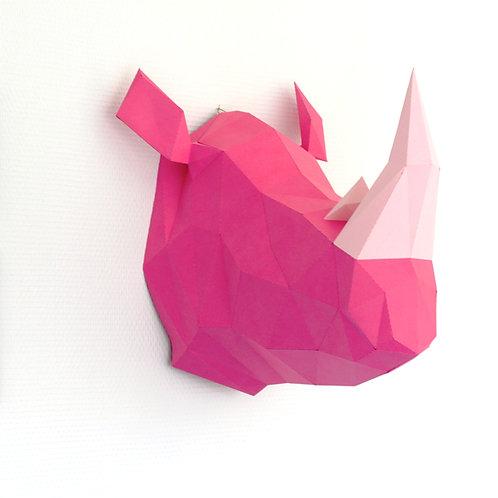 Trophée origami Rhino - Kit DIY papier