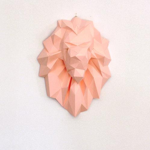 Trophée origami Lion - Kit DIY papier