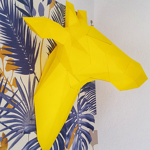 Trophée origami Girafe - Kit DIY papier