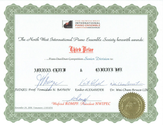 18/11/23-25 (2/3) - 6th North West International Piano Ensemble Competition