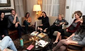 gathering friends liv room