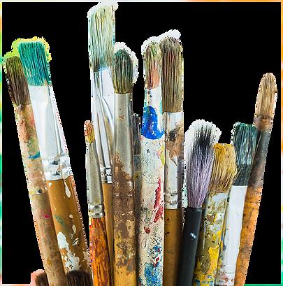 pinceau de galerie d'art