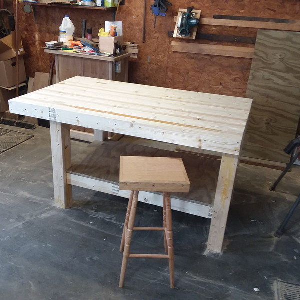 Workbench and Shop Stool