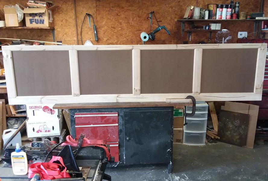 Garage Door Project - Before finishing