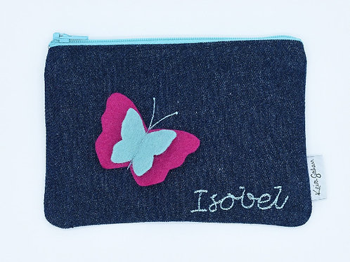 Name purses with butterfly detail
