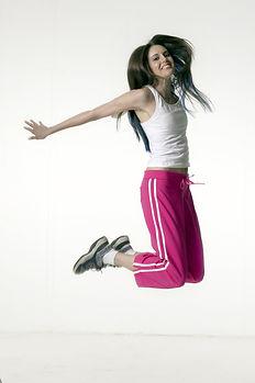 O salto da menina