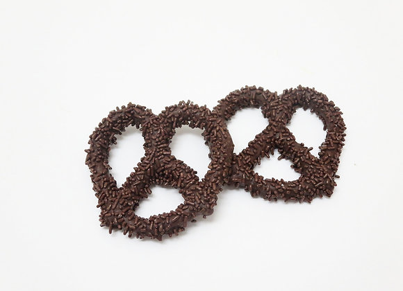 Chocolate Covered Pretzels With Chocolate Sprinkles 10CT Box