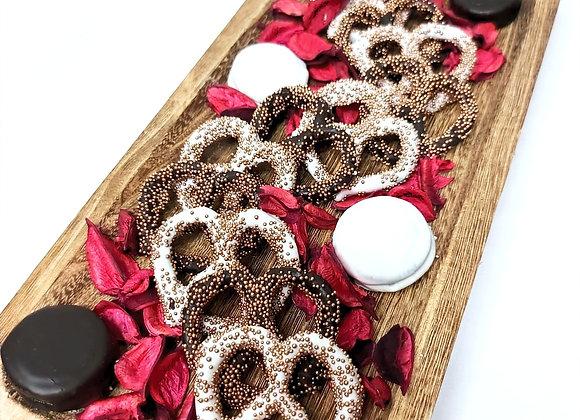 Wood Floral Platter