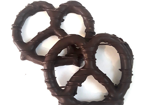 Chocolate Covered Pretzels With Chocolate Drizzle 10CT Box