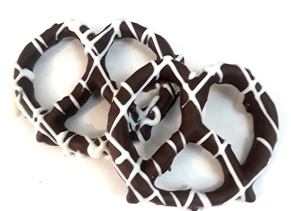 Chocolate Covered Pretzels With White Drizzle 10CT Box