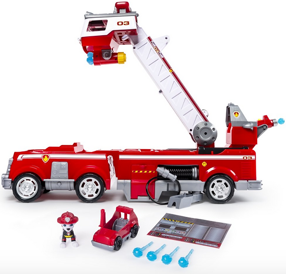 PAW Patrol Ultimate Rescue Fire Truck with Extendable 2 ft. Tall Ladder, for Age