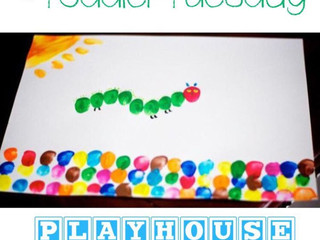 Toddler Tuesday: Very Hungry Caterpillar Finger Painting Craft