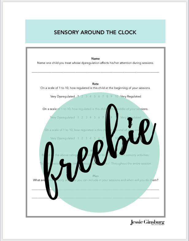 Sensory Around the Clock Worksheet