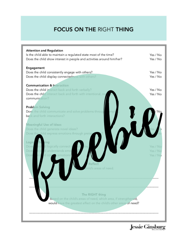 Focus on the Right Thing Worksheet