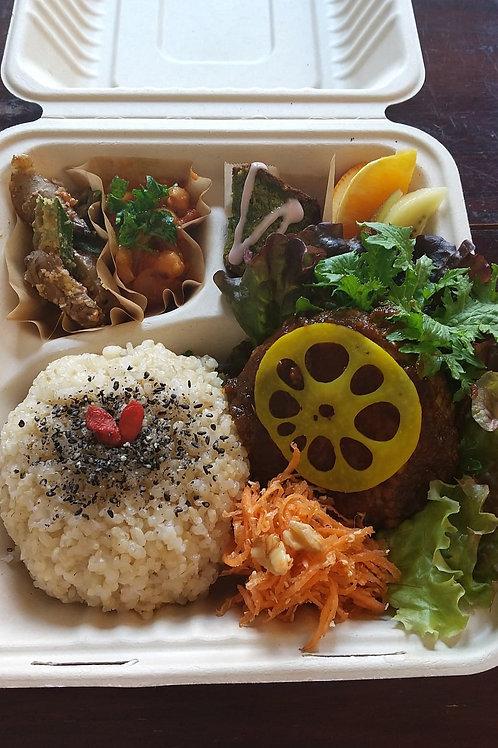 高野豆腐ハンバーグ