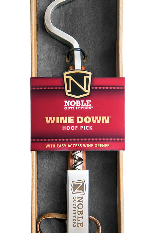 Noble Outfitters Wine Down Hoof Pick with Cork Screw