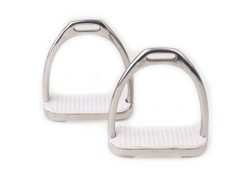 Rhinegold Stainless Steel Fillis Irons With White Treads