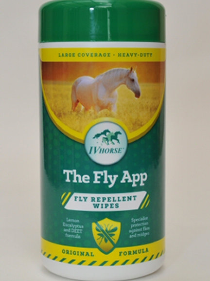 IV Horse The Fly App Fly Repellent Heavy Duty Wipes