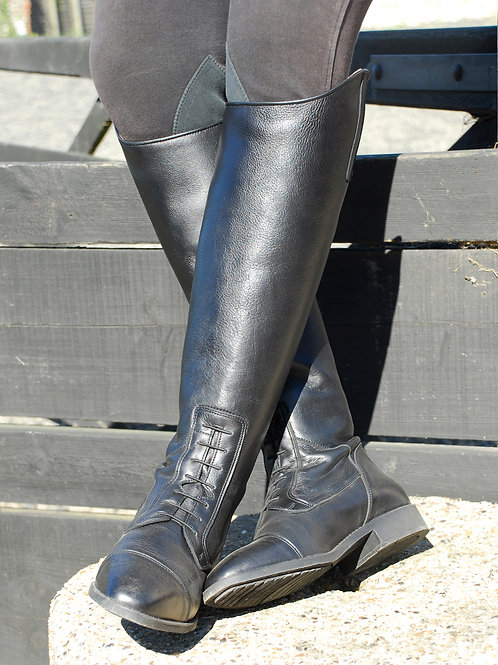 Rhinegold Valencia Laced Leather Long Boots