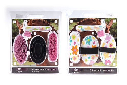 Rhinegold Blister Pack Grooming Kit Flower