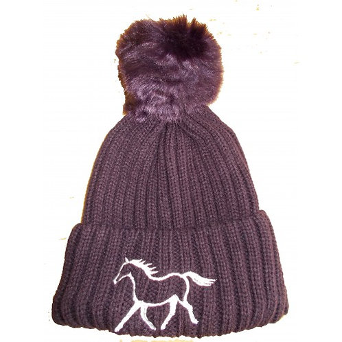 British Country Collection Ribbed Pom Pom Hat