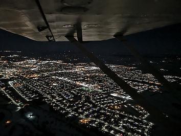 Night skyline of city