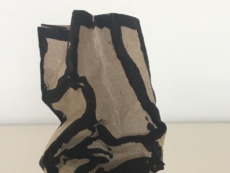 Sculpture - acrylique sur carton