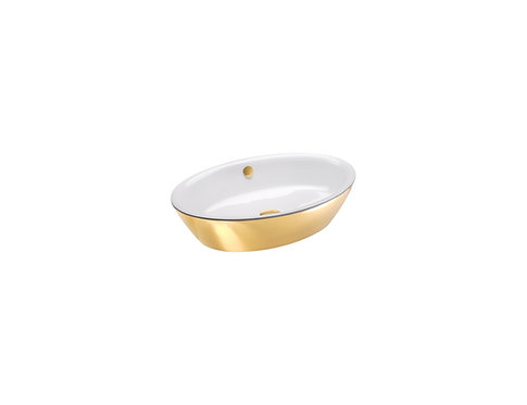 CATALANO VELIS 60 SIT ON BASIN WHITE INSIDE / GOLD OUTSIDE