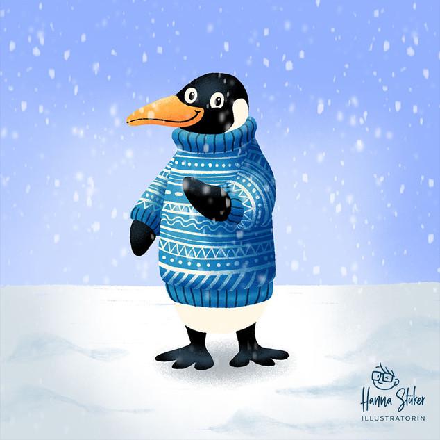 Pinguin mit Pullover