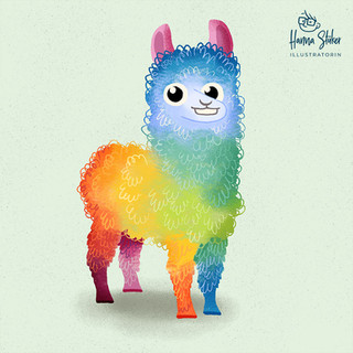 Das Regenbogen-Lama