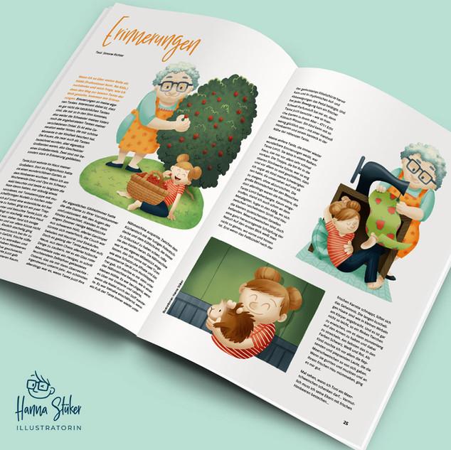Editorial-Illustration zum Thema Kindheitserinnerungen