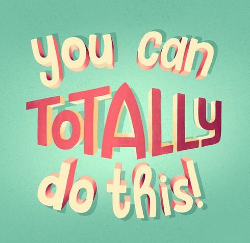 You can totally do this! –_Das Bild ist