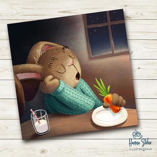 Fluffy MacFluffington beim Frühstück
