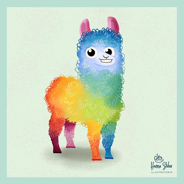 Lamas sind super 🤓🌈_————————————_#komb