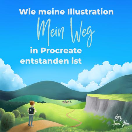 """Wie meine Illustration """"Mein Weg"""" entstanden ist (Video)"""