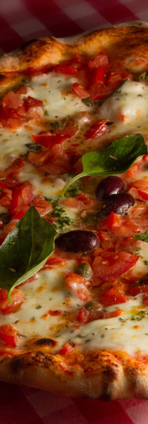 Rustic wood fire baked Pizza Margarita r