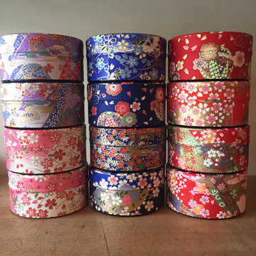 SMALL WASHI TEA TIN - ASSORTED