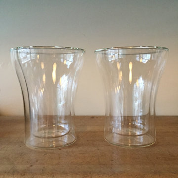 DOUBLE WALL GLASS CUPS (2 pack)