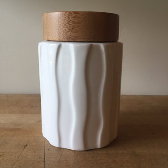 CERAMIC WAVE TEA JAR