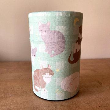 """4"""" CAT TEA TIN"""