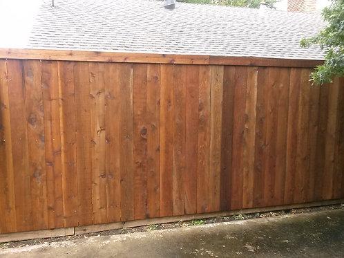 100' of 6' Side By Side Cedar - Prestained