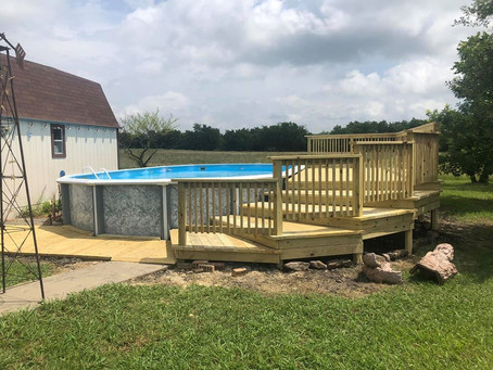 How to Build A Backyard Pool Deck