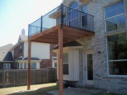 Upper balcony deck