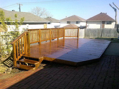 12x12 Pressure Treated Deck - w/Stain