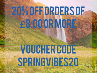 SPRINGVIBES20 coupon!