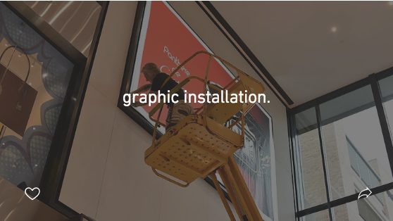 graphic installation.